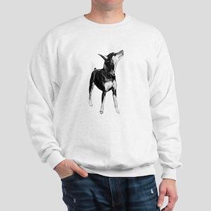 Miniature Pinscher Sketch Sweatshirt