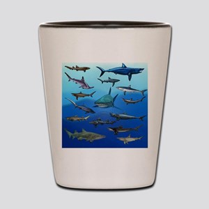 Shark Gathering Shot Glass