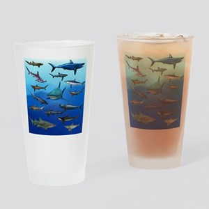 Shark Gathering Drinking Glass