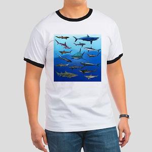 Shark Gathering Ringer T