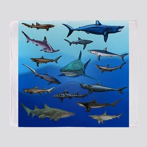 Shark Gathering Throw Blanket