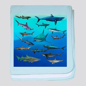 Shark Gathering baby blanket