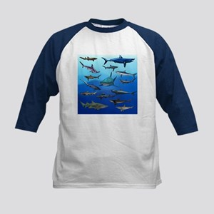 Shark Gathering Kids Baseball Jersey
