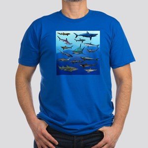 Shark Gathering Men's Fitted T-Shirt (dark)