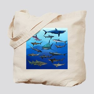 Shark Gathering Tote Bag