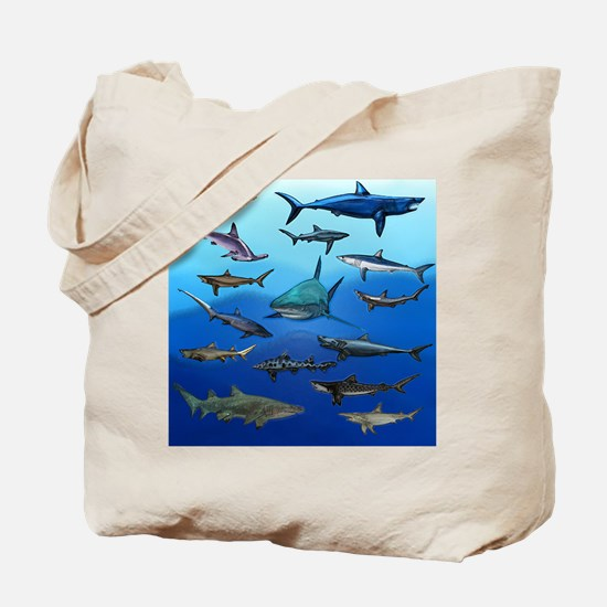 Shark Gathering Tote Bag