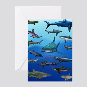 Shark Gathering Greeting Card