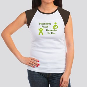 Breastfeeding and Circumcision Cap Sleeve T-Shirt