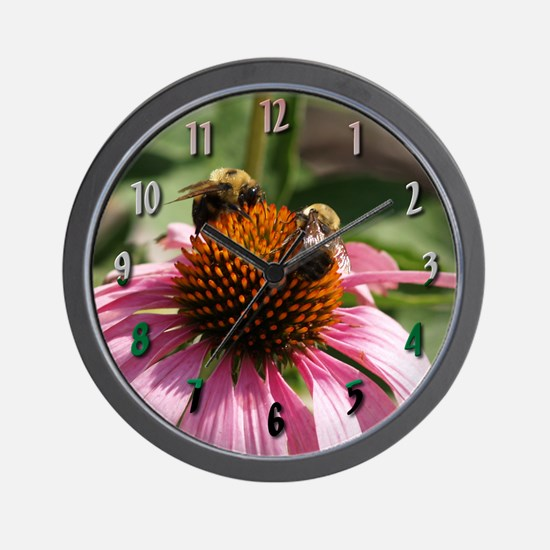 """""""Two Busy Bees"""" Wall Clock"""