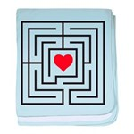 heart labyrinth baby blanket