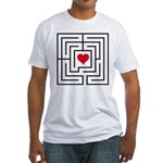 heart labyrinth Fitted T-Shirt