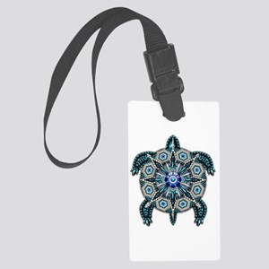 Native American Turtle 01 Large Luggage Tag