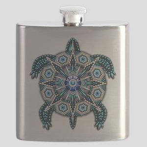 Native American Turtle 01 Flask