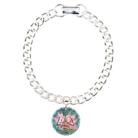 Breathe In Your Bliss Charm Bracelet, One Charm