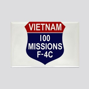 100 Missions Rectangle Magnet