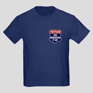 100 Missions Kids Dark T-Shirt