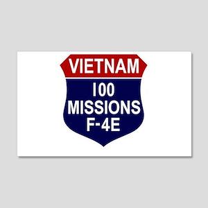 100 Missions 22x14 Wall Peel