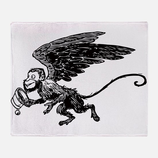 Winged Monkey Throw Blanket