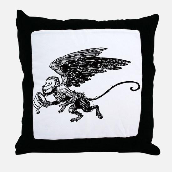 Winged Monkey Throw Pillow