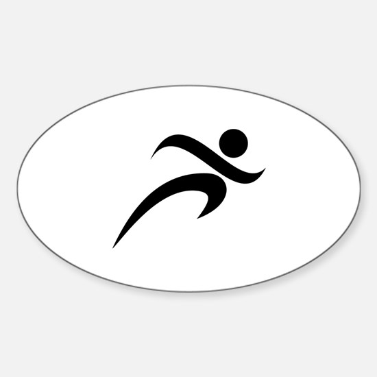 Running Sticker (Oval)
