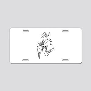 Running Aluminum License Plate