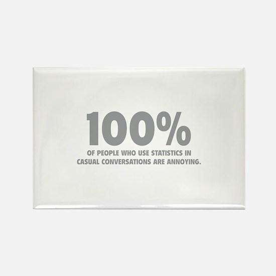 100% Statistics Rectangle Magnet