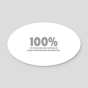 100% Statistics Oval Car Magnet
