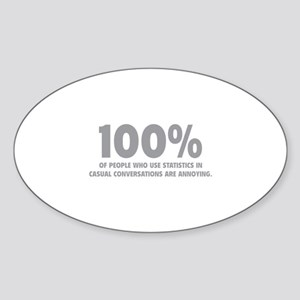 100% Statistics Sticker (Oval)