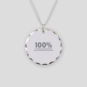 100% Statistics Necklace Circle Charm