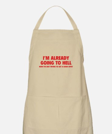 I'm already going to hell Apron