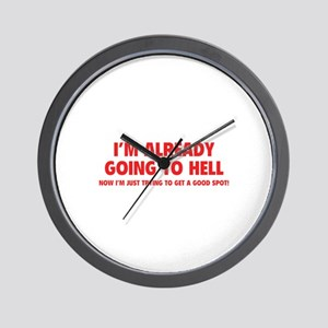 I'm already going to hell Wall Clock
