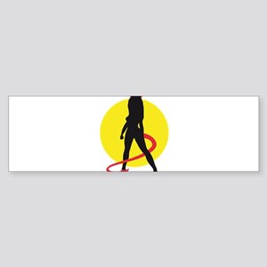 hot devil woman Sticker (Bumper)