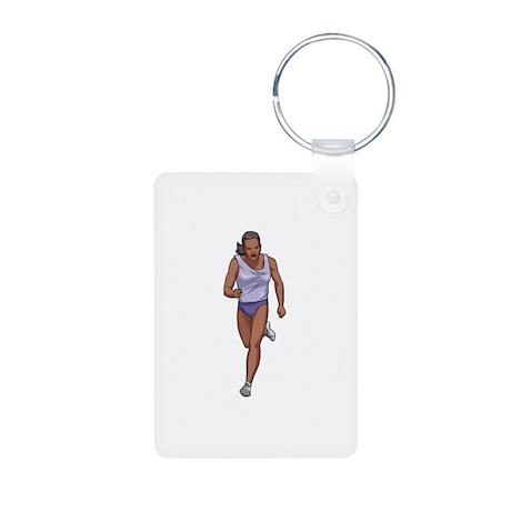 Running Aluminum Photo Keychain