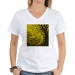 forest #3DA Women's V-Neck T-Shirt