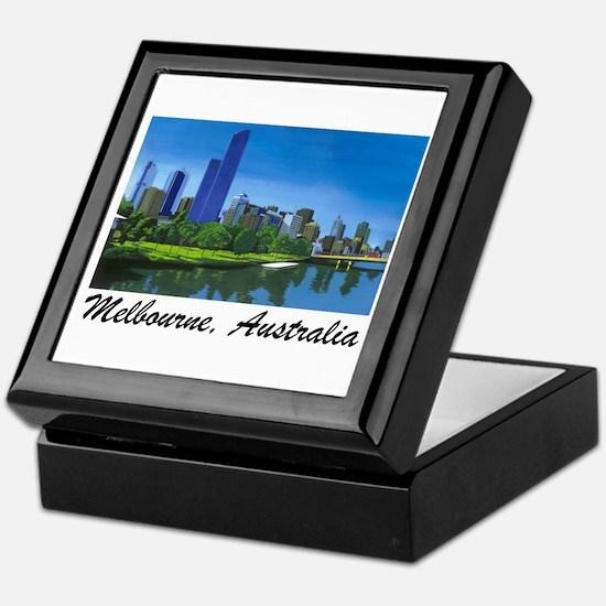 Melbourne Skyline Painting Keepsake Box