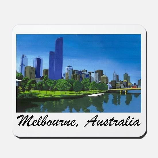 Melbourne Skyline Painting Mousepad