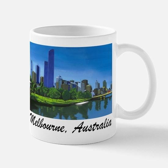 Melbourne Skyline Painting Mug