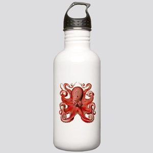 Red Octopus Stainless Water Bottle 1.0L