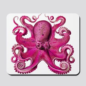 Pink Octopus Mousepad