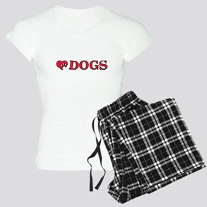 a heart for dogs Women's Light Pajamas