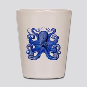 Blue Octopus Shot Glass