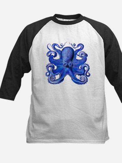 Blue Octopus Kids Baseball Jersey