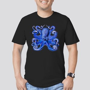 Blue Octopus Men's Fitted T-Shirt (dark)