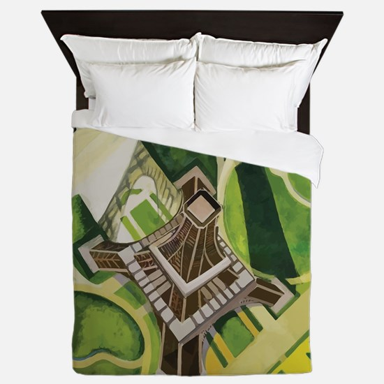 Robert Delaunay Eiffel Tower Queen Duvet