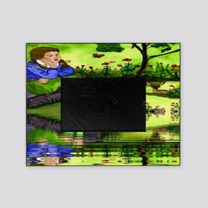 Girl Thinking Reflection Picture Frame