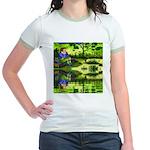 Girl Thinking Reflection Jr. Ringer T-Shirt