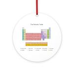 Colorful Periodic Table Ornament (Round)