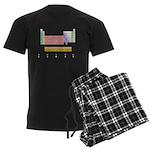 Colorful Periodic Table Men's Dark Pajamas