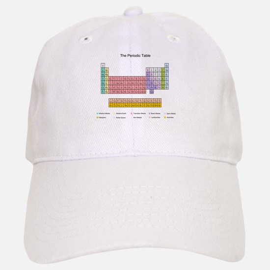 Colorful Periodic Table Baseball Baseball Cap