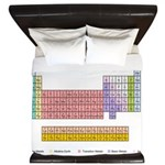 Colorful Periodic Table King Duvet